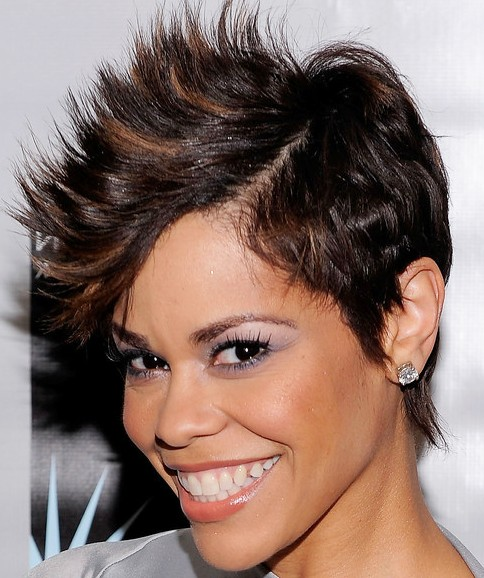 Trendy Short Spiky Haircut for ladies: April Woodard Fauxhawk Haircut