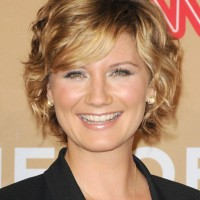 Short formal curly haircut for women