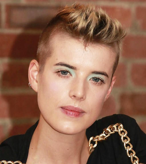 Short Spiky Faux Hawk Hairstyle for women