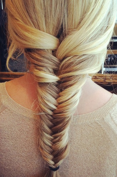 Fishtail Braid  Hairstyles Weekly - Easy Braid Hairstyles