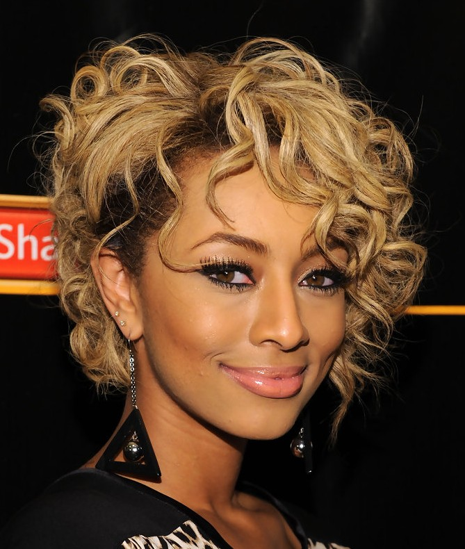 Trendy short curly hairstyle from keri hilson