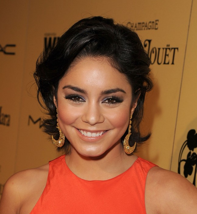 Vanessa Hudgens Short Black Hairstyle