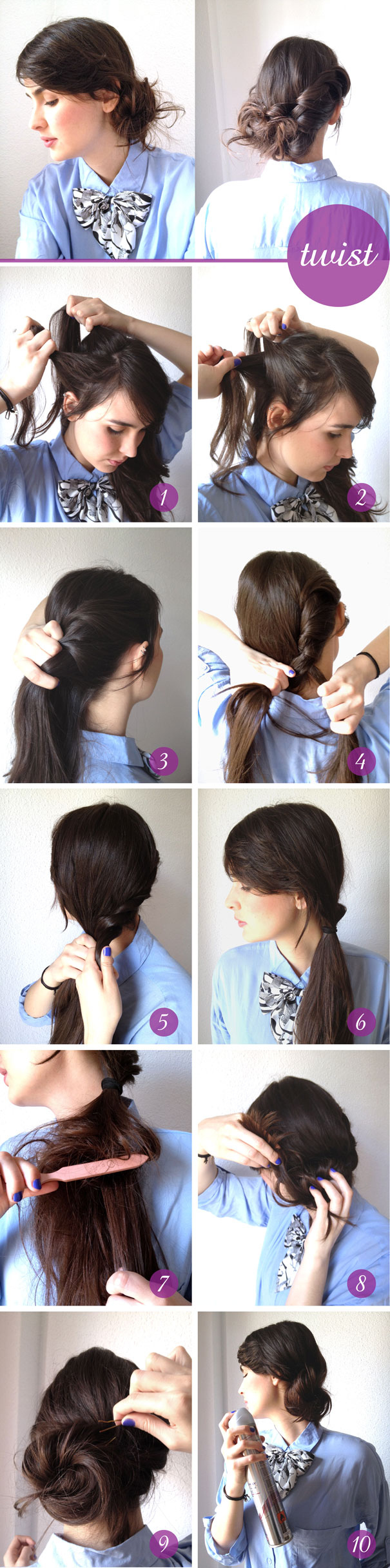 How To Style The Messy Twist Updo Hairstyle
