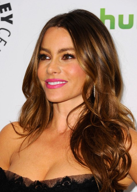 Sofia Vergara Layered Long Hairstyles for Women