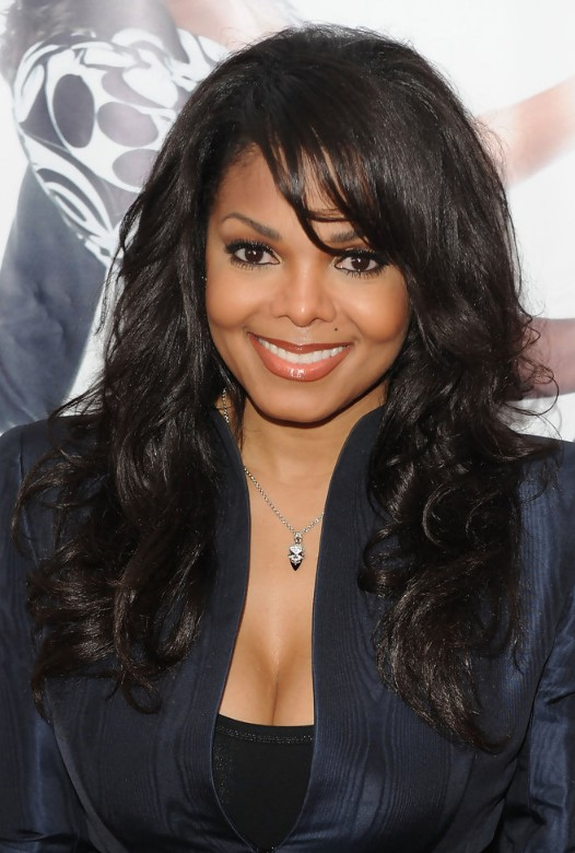 Janet Jackson Sexy Long Black Hair Style for African American