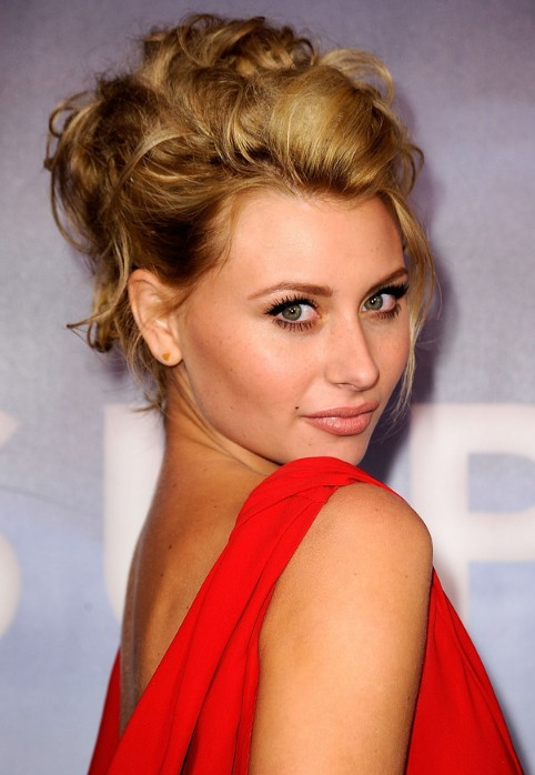 sexy hair up styles alyson michalka curly updo hairstyle 6471 | Alyson Michalka Sexy Messy Loose Updo Hairstyle