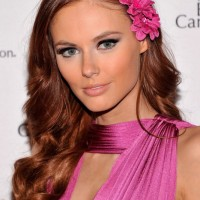 Alyssa Campanella Long Wavy Red Hairstyle