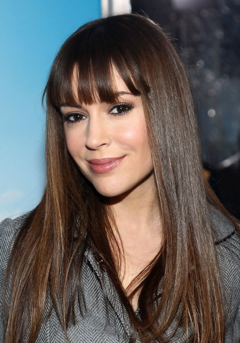 Celebrity Alyssa Milano Long Smooth Hairstyle