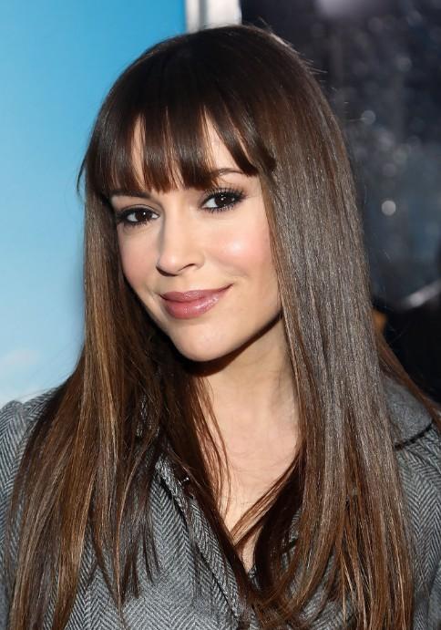 Celebrity Alyssa Milano Long Smooth Hairstyle