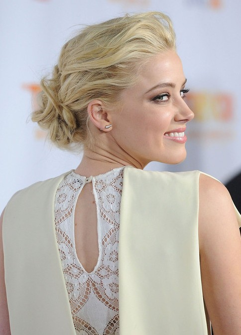 2013 Low Casual Loose Bun Updo for Prom: Prom Hairstyles 2013
