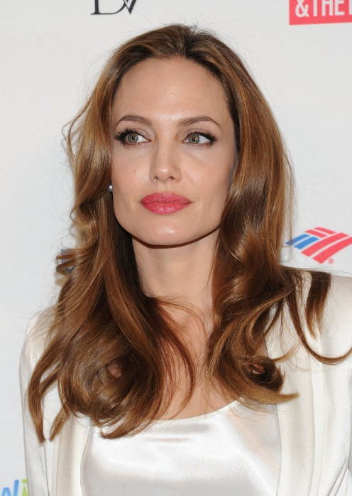 Angelina Jolie Long Hair with Sleek Waves