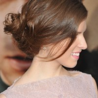 Anna Kendrick French Twist Updo Hairstyle 2013 - 2014