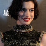 Anne Hathaway Short Wavy Curly Bob Haircut for Women