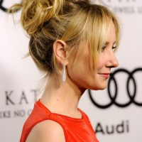 Anne Heche Sexy Messy Updo with Tousled Curls