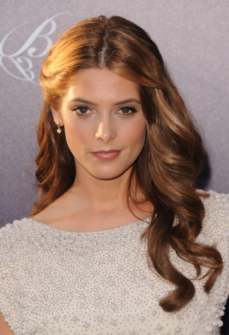 Ashley Greene Elegant Half Up Half Down Hairstyle for Homecoming