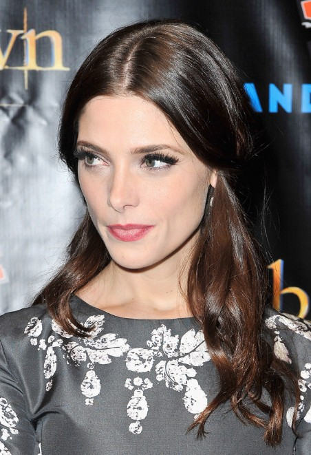 Celebrity Ashley Greene Half Up Half Down Hairstyle