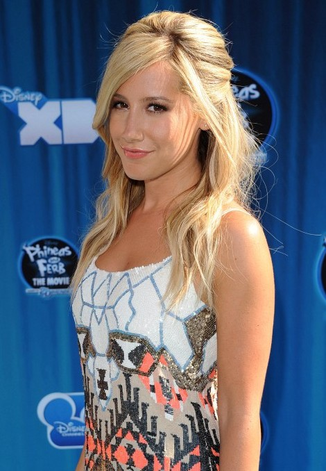 Ashley Tisdale Teased Half Up Half Down Hairstyle 2013