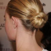 Back View of Sleek Bun Updo Hairstyle
