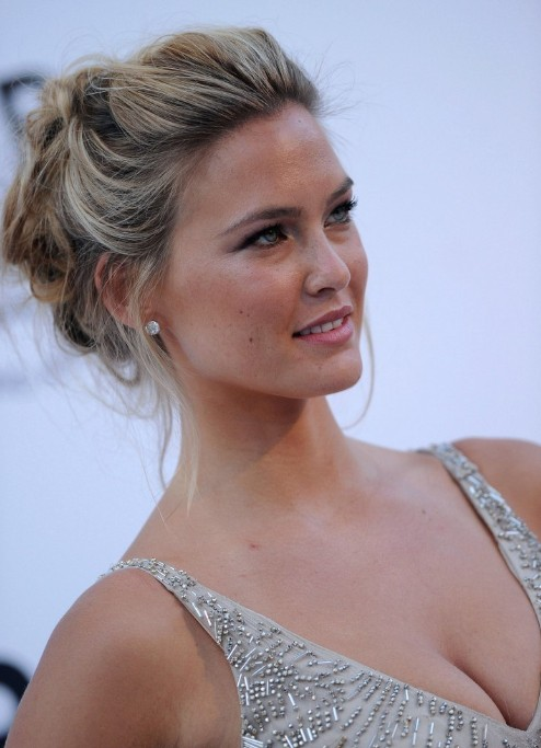 Bar Refaeli Loose Textured Messy Updo - Hottest Messy Updo