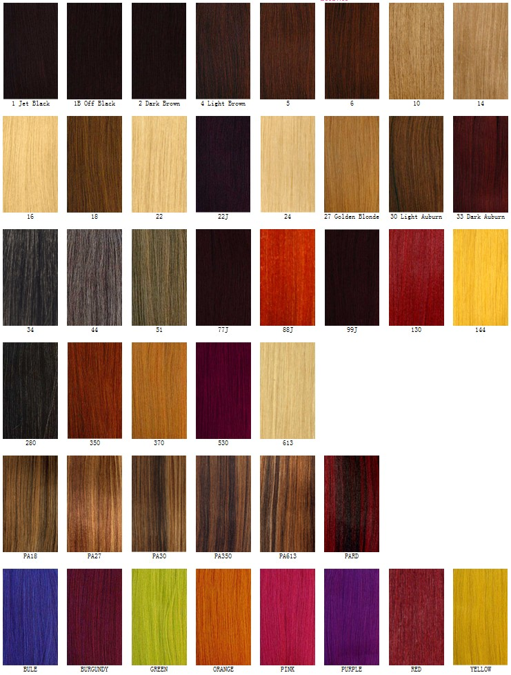 Hair Color Charts: Basic & Solid Color