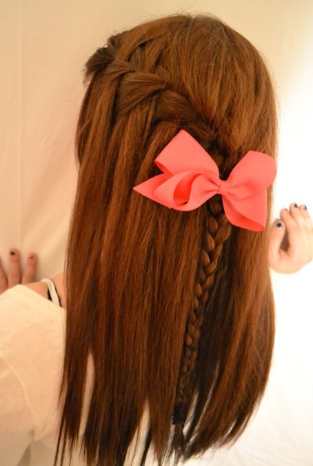Beautiful Waterfall Braid Hairstyle