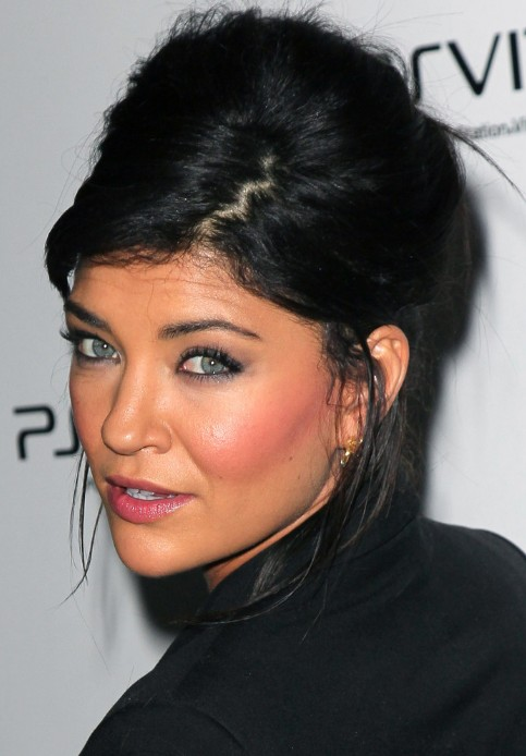 Sensational Black French Twist Updo From Jessica Szohr Hairstyles Weekly Hairstyle Inspiration Daily Dogsangcom