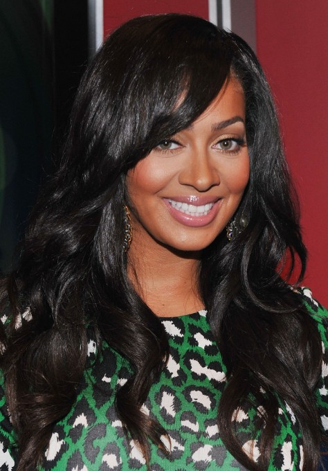 Pleasing Black Wavy Hairstyle With Side Swept Bangs Hairstyles Weekly Hairstyles For Women Draintrainus