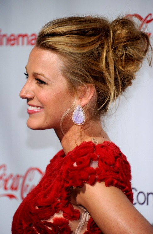 Blake Lively Messy Updo for Wedding