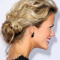 Best Low Loose Bun Updo 2013 - Side View of the Low Loose Bun Updo