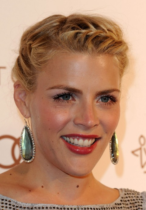Outstanding 2013 Updo Hairstyles Busy Philipps French Braided Updo Short Hairstyles For Black Women Fulllsitofus