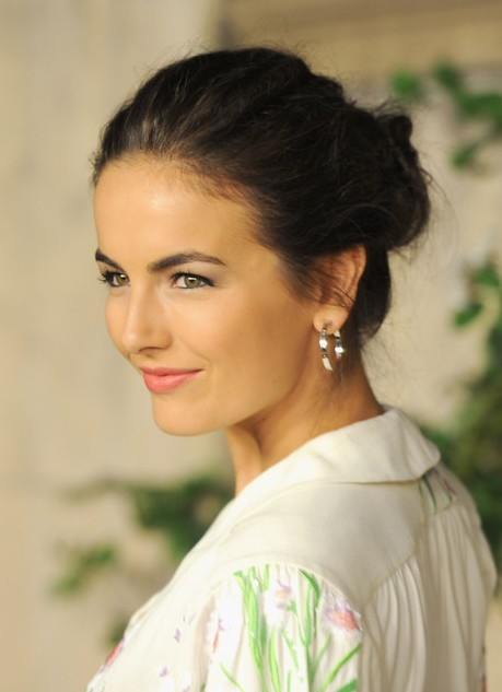 Amazing Camilla Belle Loose Bun Updo Hairstyles Weekly Hairstyles For Men Maxibearus