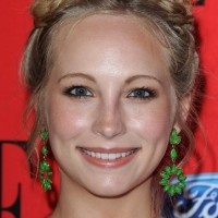 Candice Accola Cute Heidi Braided Updo 2013