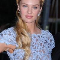 Candice Swanepoel Heidi Braided Updo 2013
