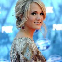 Carrie Underwood Simple Loose Messy Updo