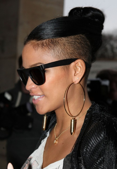 Cassie Top Knot Hairstyle - Celebrity Stylish Knot Hairstyle