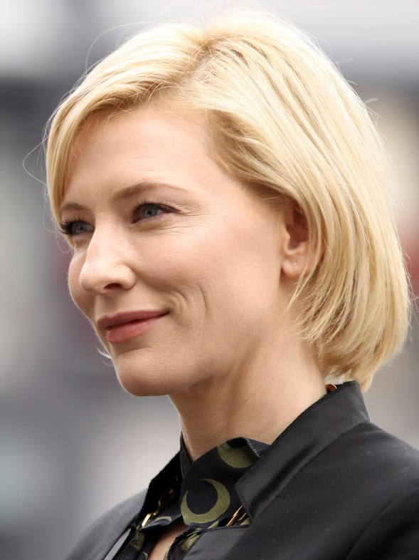 Cate Blanchett short bob hairstyle for women over 40s