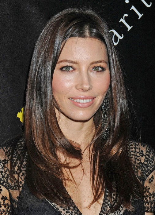 Jessica biel long straight hair styles for women