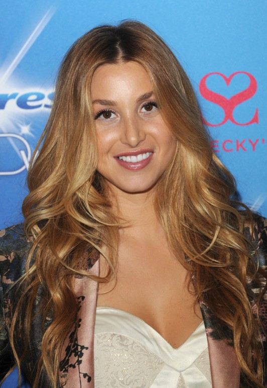 Whitney Port Center Part Haircut for 2013