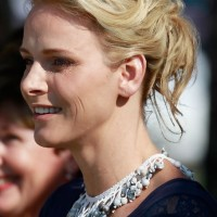 Charlene Wittstock Easy Daily Loose Updo Hairstyle for Summer