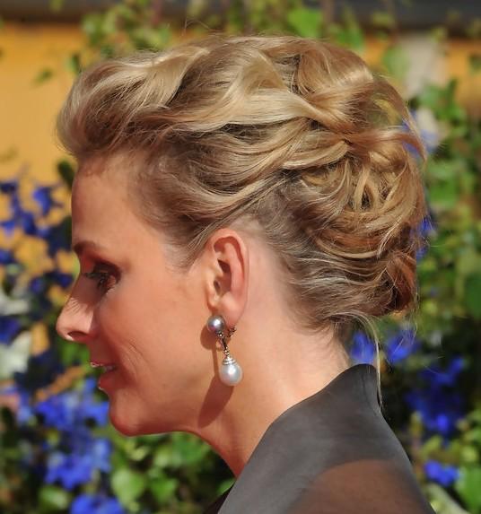 Charlene Wittstock Intricate Textured Updo Hairstyles 2013