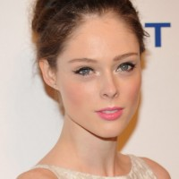 Coco Rocha Cute Bobby Pinned Updo Hairstyles