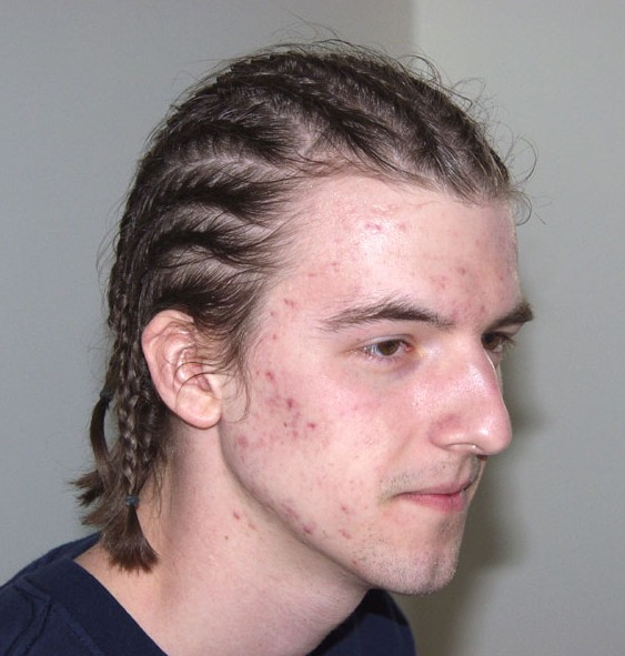 Cornrows hair style for men
