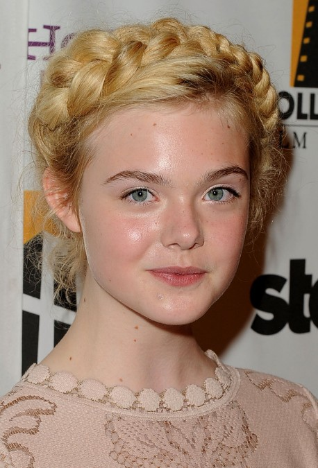 Elle Fanning Crown Braids - Classic Crown Braids for Long Hair