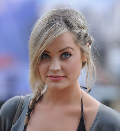 Cute Side Braided Hairstyle from Laura Whitmore
