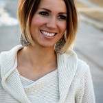 Cute Short Dark Brown to Blonde Ombre Bob Hair