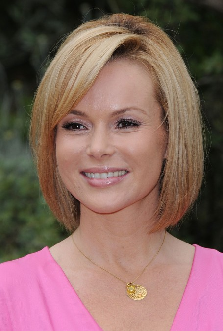 Latest Cute Short Straight Bob Hairstyle with Bangs for Women ...