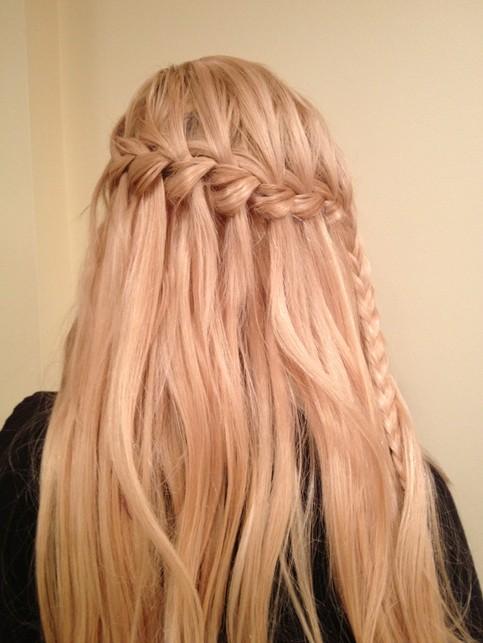 Waterfall Braid Hairstyles Weekly