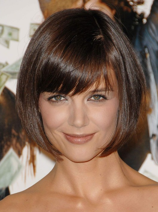 Fabulous Cute Short Bob Hairstyle From Katie Holmes Hairstyles Weekly Hairstyles For Women Draintrainus