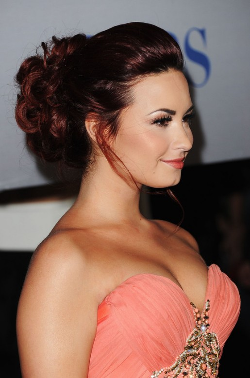 Latest Formal Hairstyles: Beautiful Dark Auburn Updo for Long Hair