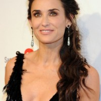 Demi Moore Formal Loose Ponytail for Curly Hair